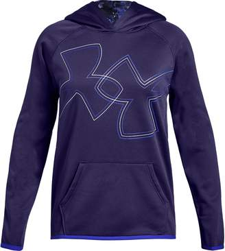 Under Armour Girls 7-16 Fleece Dual Logo Hoodie