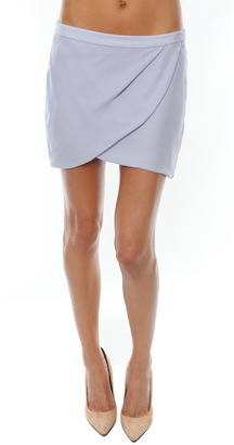 Mason By Michelle Mason Drape Mini Skirt $357 thestylecure.com