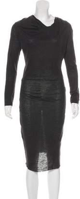 Etoile Isabel Marant Long Sleeve Midi Dress