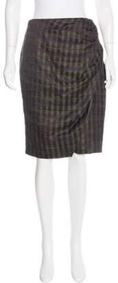 Peter Som Plaid Knee-Length Skirt