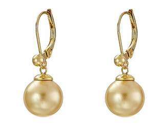 Majorica 10mm S.S.W. Drop E/W Earrings