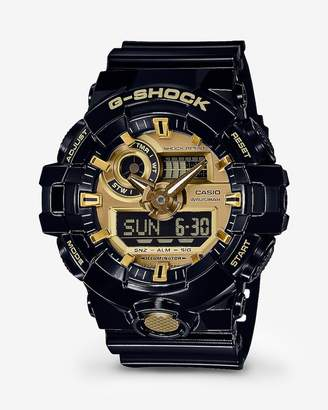 Express G-Shock Black And Gold Watch