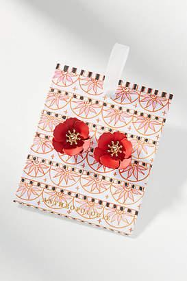 Anthropologie Mini Floral Post Earrings