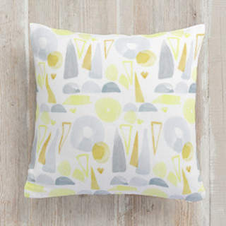 Watercolor Geometric Self-Launch Square Pillows