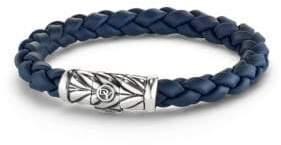 David Yurman Sterling Silver& Braided Rubber Bracelet