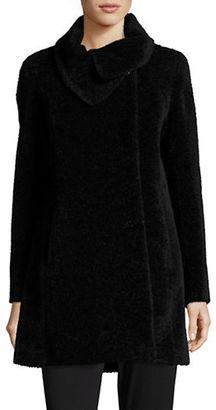 Cinzia Rocca Suri Alpaca Fold-Over Collar Coat $1,235 thestylecure.com