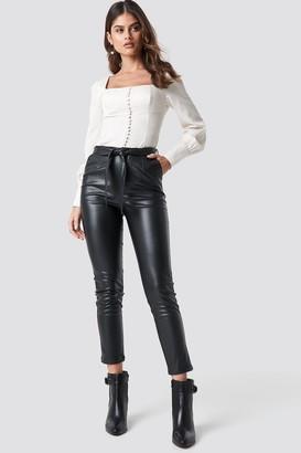 Luisa Lion X Na Kd Tie Belt Pants Black