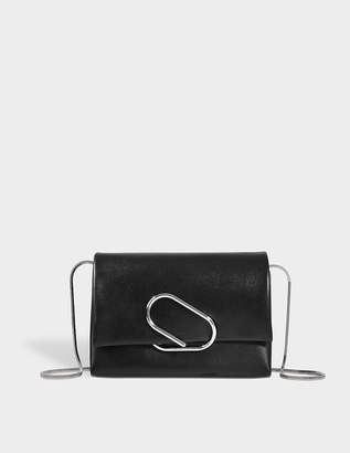 3.1 Phillip Lim Alix Soft Flap Clutch Bag in Black Lambskin