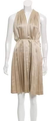 Stella McCartney Sleeveless Pleated Dress Champagne Sleeveless Pleated Dress