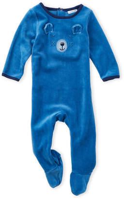 Absorba Newborn Boys) Bear Face Footie