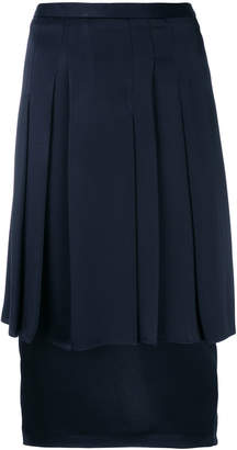 Chalayan pleated layered pencil skirt