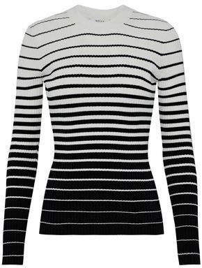 Milly Striped Dégradé Ribbed-Knit Sweater