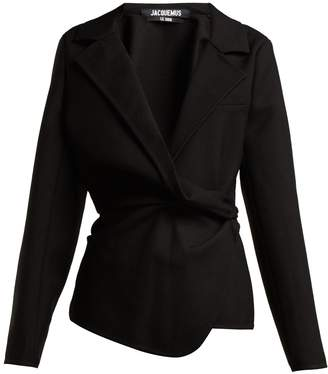 Jacquemus Veste Baija double-breasted drape wool jacket