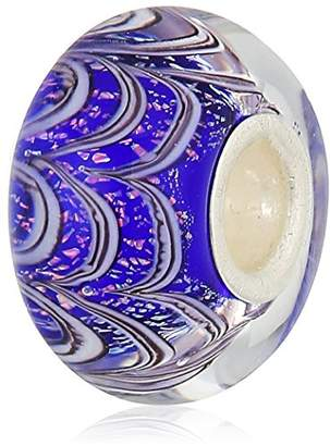 Murano Chamilia Jack Frost- Sapphire Color With Glass Italian Style Single Charm