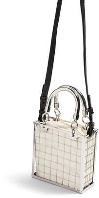 Topshop Cady Cage Mini Tote Handbag
