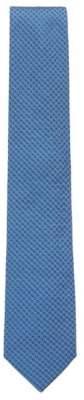 BOSS Hugo Silk tie in a micro-square jacquard One Size Blue