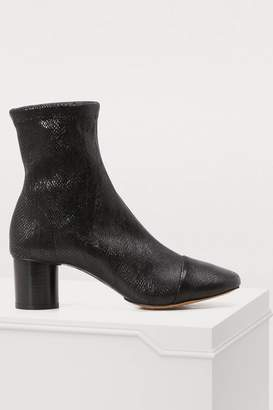 Isabel Marant Leather Datsy boots with heels