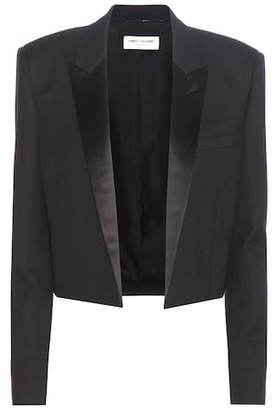 Saint Laurent Cropped wool crêpe blazer