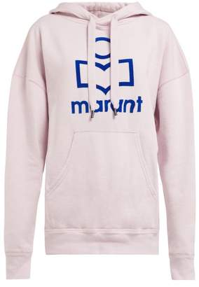 Etoile Isabel Marant Mansel Logo Front Hooded Sweatshirt - Womens - Light Pink