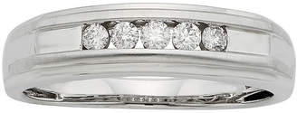 MODERN BRIDE Mens 1/4 CT. T.W. Certified Diamond 14K White Gold Band Ring