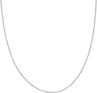 Primrose PRIMROSE Sterling Silver Tube Chain Necklace