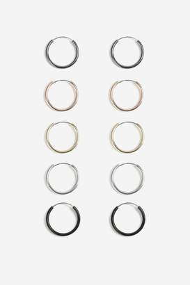 Topshop Mini Hoop Earrings Pack