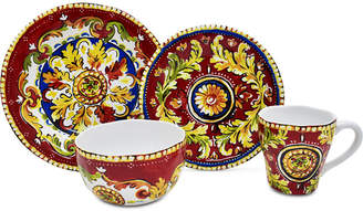 222 Fifth Oberon Red 16-Pc. Dinnerware Set, Service for 4