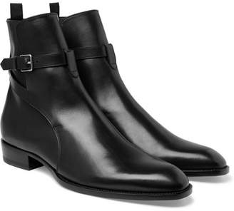 Saint Laurent Leather Jodhpur Boots - Black