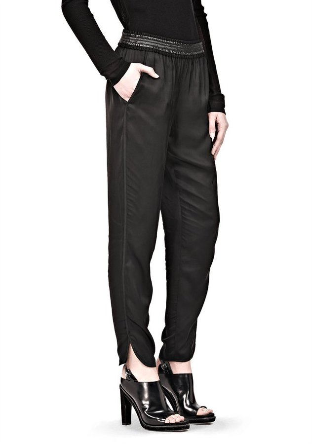 Alexander Wang Track Pant With Leather Waistband