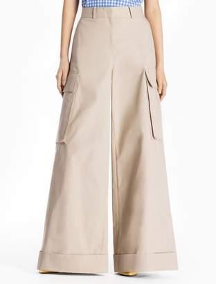 Calvin Klein cotton woven extra wide leg cargo pants