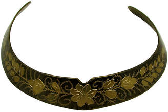 One Kings Lane Vintage Indian Engraved Floral Choker - Thanks for the Memories