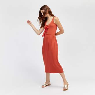 Warehouse Tie Front Maxi Dress