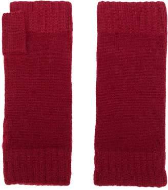 N.Peal fingerless knitted gloves
