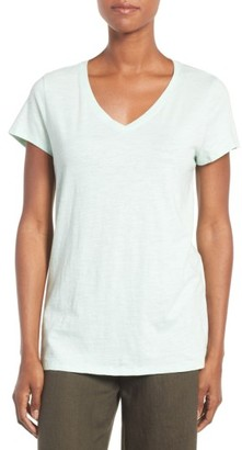 Women's Eileen Fisher Organic Cotton V-Neck Tee $78 thestylecure.com