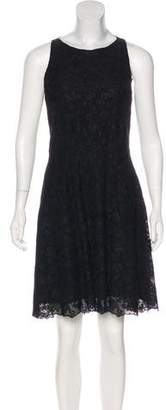 Nina Ricci Lace-Trimmed Embroidered Dress