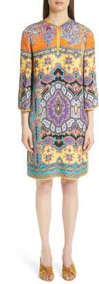 Etro Harlem Paisley Print Cloque Tunic Dress