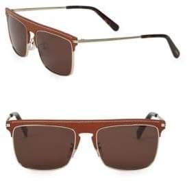 Loewe 56MM Leather Top Square Sunglasses