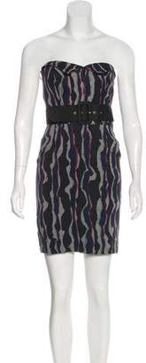 Trina Turk Strapless Printed Dress