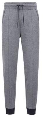 BOSS Hugo Drawstring-waist loungewear pants in two-color cotton terry M Grey