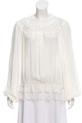 Tamara Mellon Silk Pleated Top