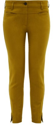 Ann Demeulemeester Slim Leg Stretch Jersey Trousers - Womens - Green