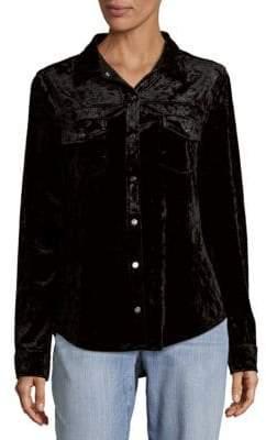 Sanctuary Velvet Button-Down Shirt