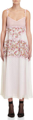 Giamba Pink Floral & Lace Gown