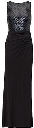 Ralph Lauren Lauren Sequined-Bodice Jersey Gown $195 thestylecure.com