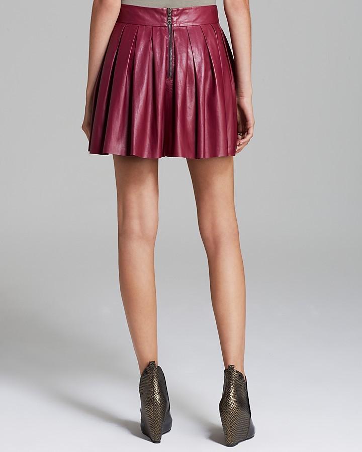 Alice + Olivia Skirt - Box Pleat Leather