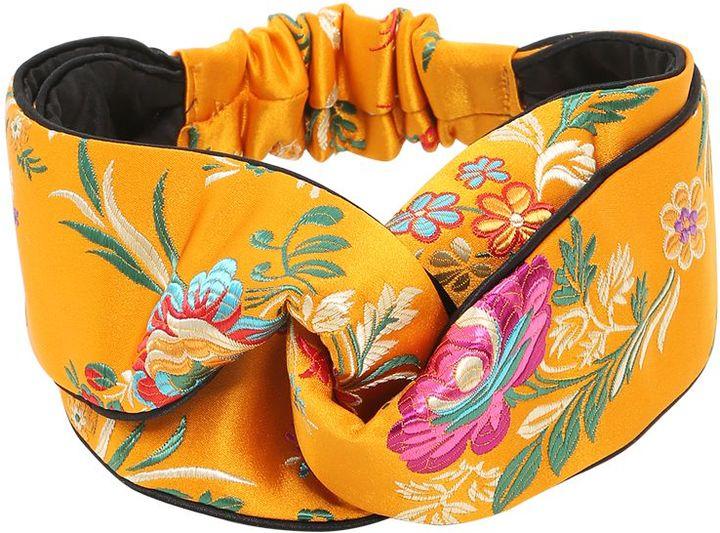 GucciTokyo Printed Silk Knot Headband