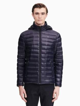 Calvin Klein down packable hooded jacket