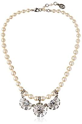 Ben-Amun Pearl Necklace with Crystal Pendants