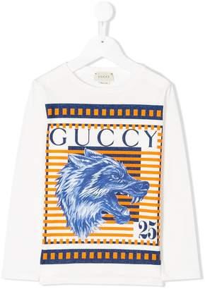 Gucci Kids wolf print T-shirt