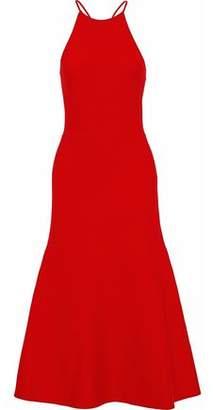 Alexander Wang Cutout Flared Stretch-Knit Midi Dress